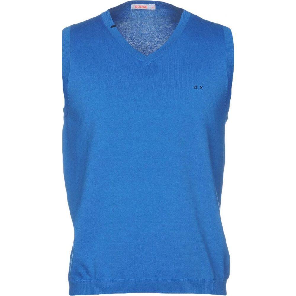 サン シックスティーエイト SUN 68 メンズ ベスト・ジレ トップス【sleeveless sweater】Azure