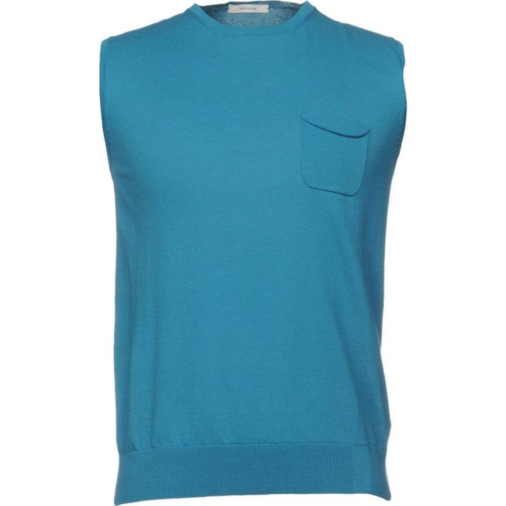 オビオスベーシック OBVIOUS BASIC メンズ ベスト・ジレ トップス【sleeveless sweater】Turquoise