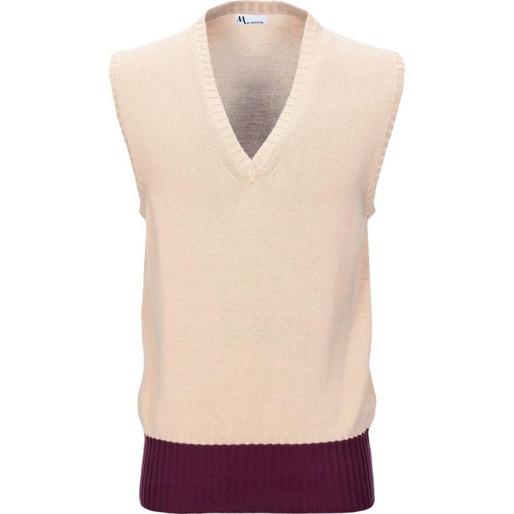 ドッピア アー DOPPIAA メンズ ベスト・ジレ トップス【sleeveless sweater】Sand