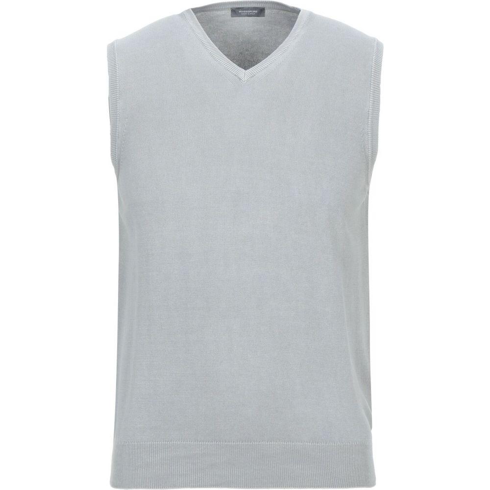 ロッソプーロ ROSSOPURO メンズ ベスト・ジレ トップス【sleeveless sweater】Light grey