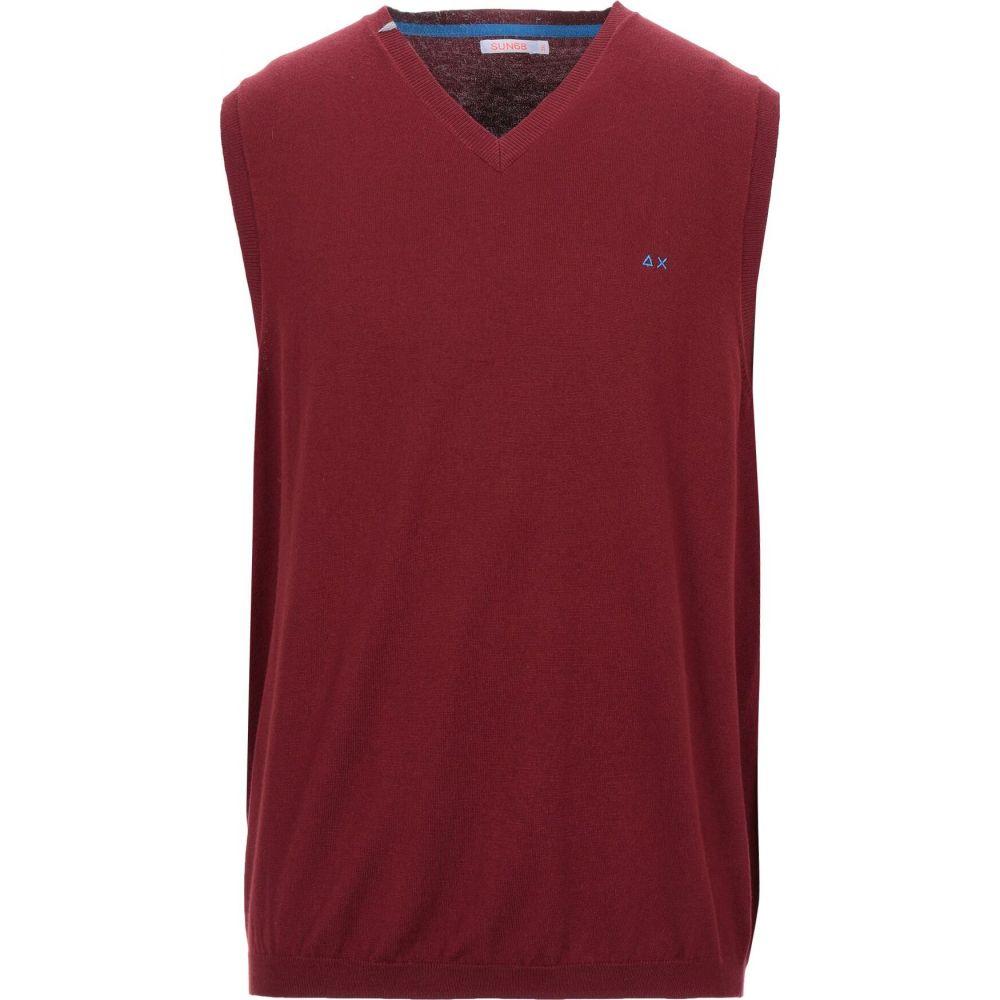 サン シックスティーエイト SUN 68 メンズ ベスト・ジレ トップス【sleeveless sweater】Maroon