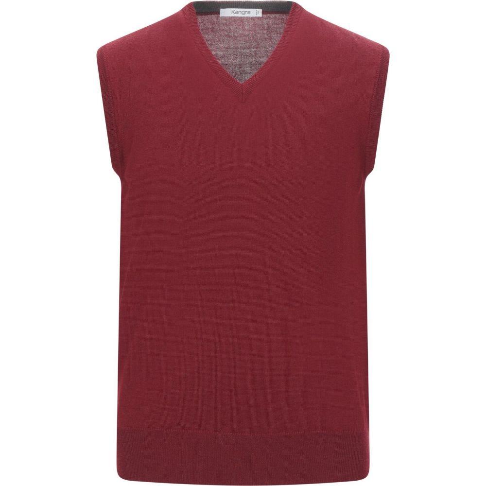 カングラ カシミア KANGRA CASHMERE メンズ ベスト・ジレ トップス【sleeveless sweater】Brick red