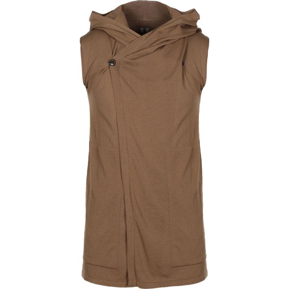 リック オウエンス RICK OWENS メンズ ベスト・ジレ トップス【sleeveless sweater】Khaki