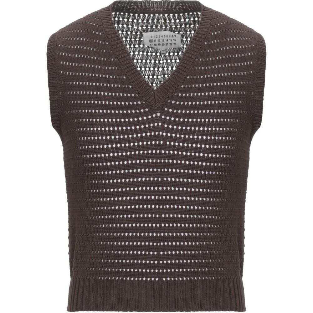 メゾン マルジェラ MAISON MARGIELA メンズ ベスト・ジレ トップス【sleeveless sweater】Dark brown