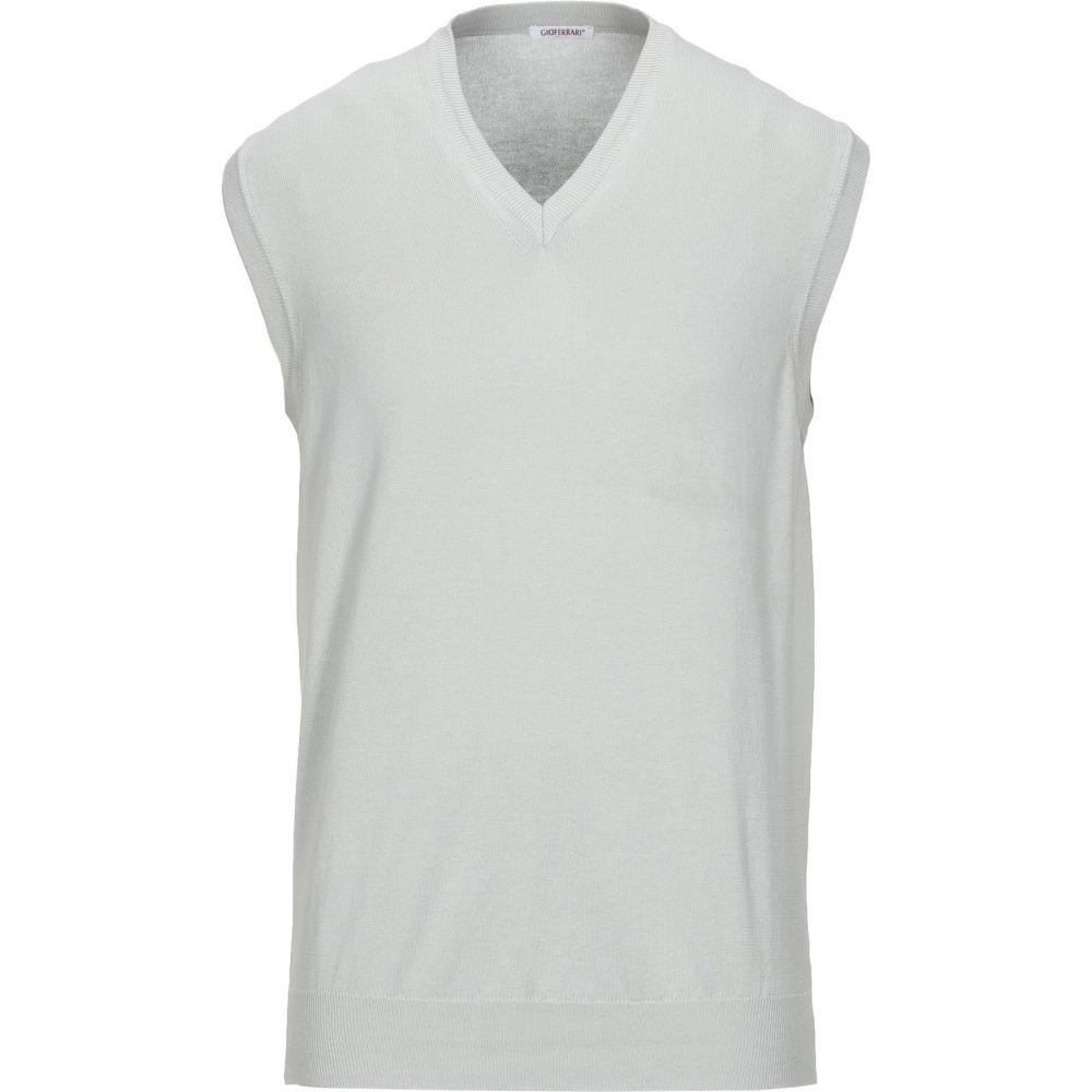 ジオ フェラーリ GIOFERRARI メンズ ベスト・ジレ トップス【sleeveless sweater】Light grey