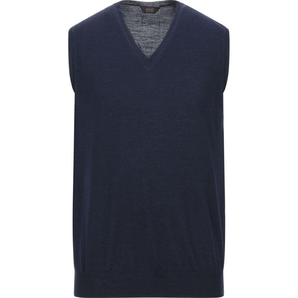 オジオ HoSIO メンズ ベスト・ジレ トップス【sleeveless sweater】Dark blue