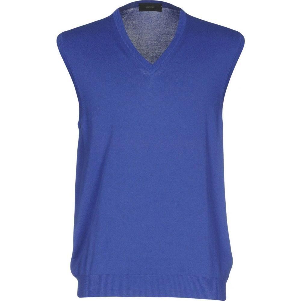 ザノーネ ZANONE メンズ ベスト・ジレ トップス【sleeveless sweater】Blue