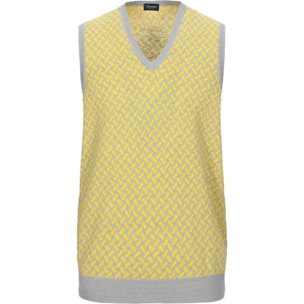 ドルモア DRUMOHR メンズ ベスト・ジレ トップス【sleeveless sweater】Yellow