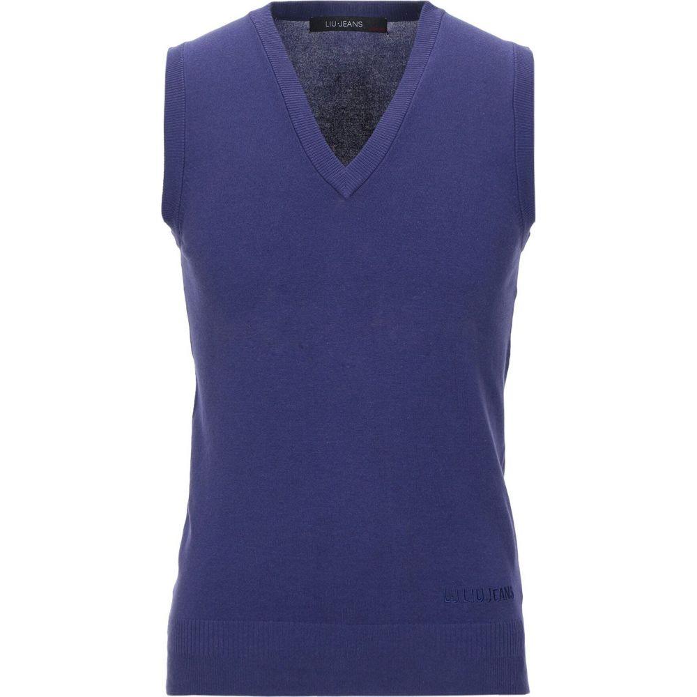 リウジョー LIU JO MAN メンズ ベスト・ジレ トップス【sleeveless sweater】Purple