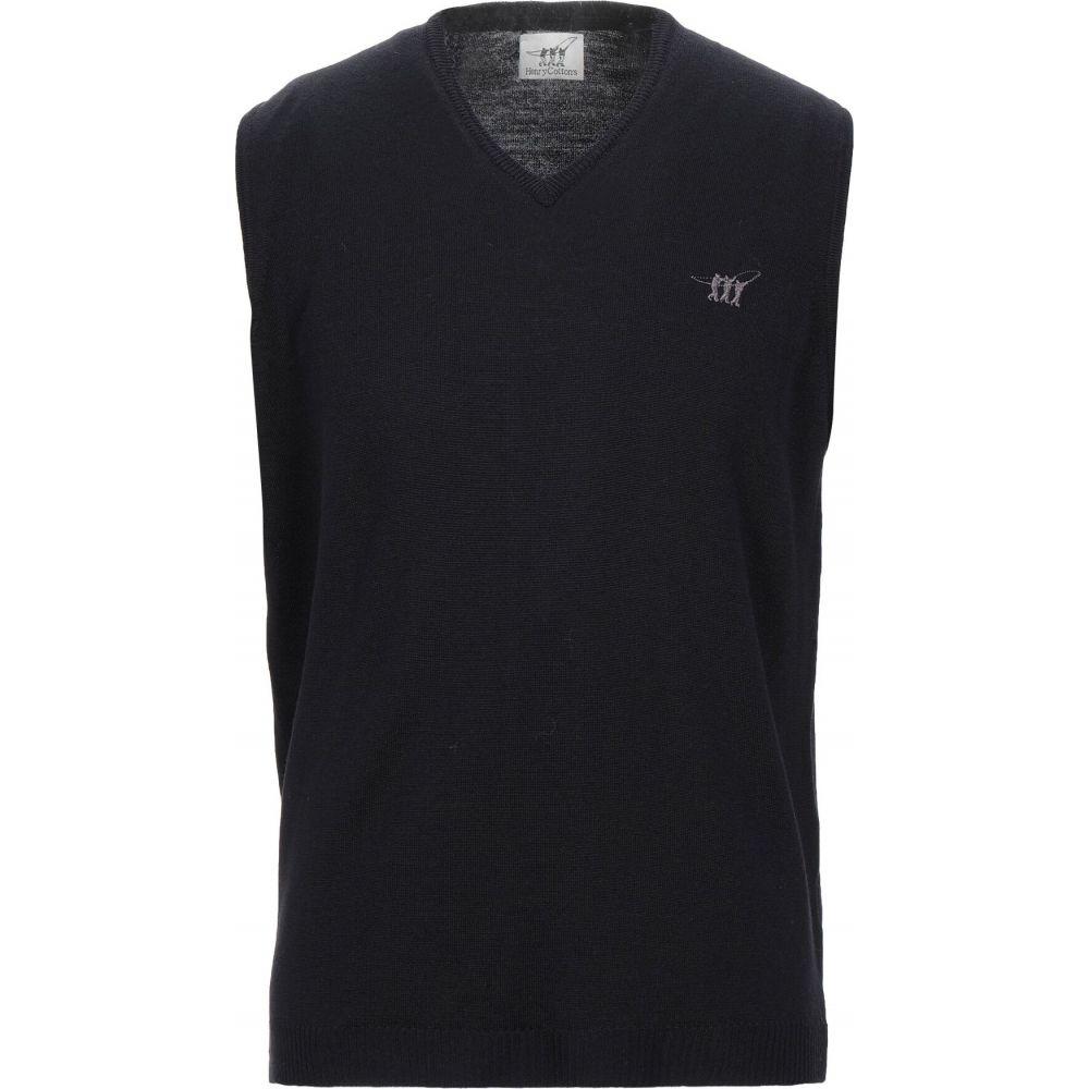ヘンリーコットンズ HENRY COTTON'S メンズ ベスト・ジレ トップス【sleeveless sweater】Black