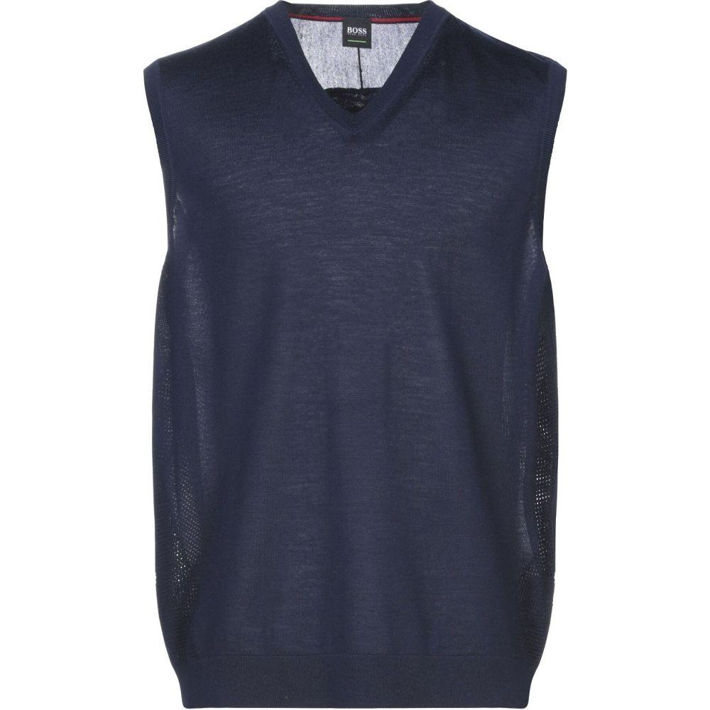 ヒューゴ ボス BOSS HUGO BOSS メンズ ベスト・ジレ トップス【sleeveless sweater】Dark blue