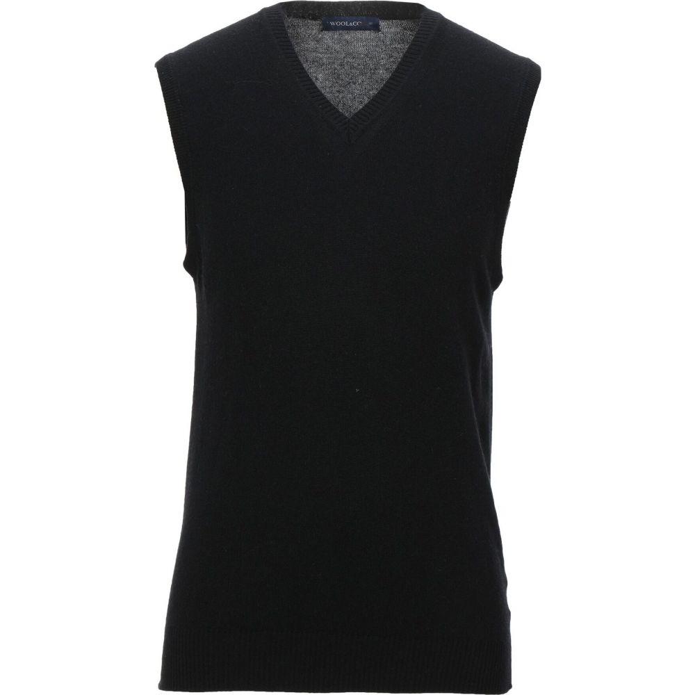 ウールアンドコー WOOL & CO メンズ ベスト・ジレ トップス【sleeveless sweater】Black