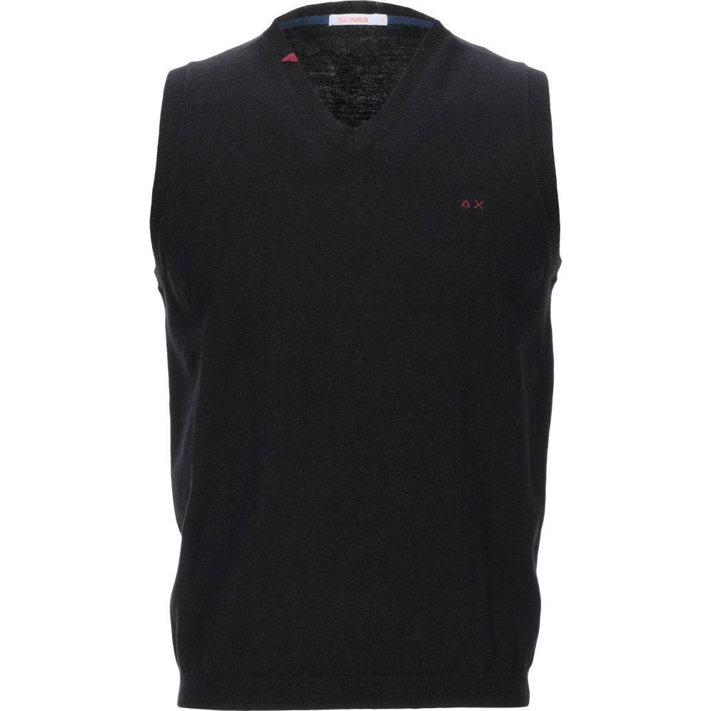 サン シックスティーエイト SUN 68 メンズ ベスト・ジレ トップス【sleeveless sweater】Black
