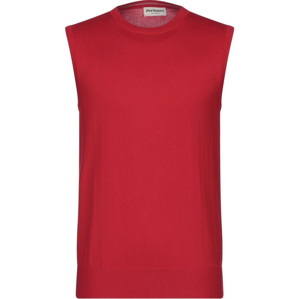 ロイロジャース ROY ROGER'S メンズ ベスト・ジレ トップス【sleeveless sweater】Red