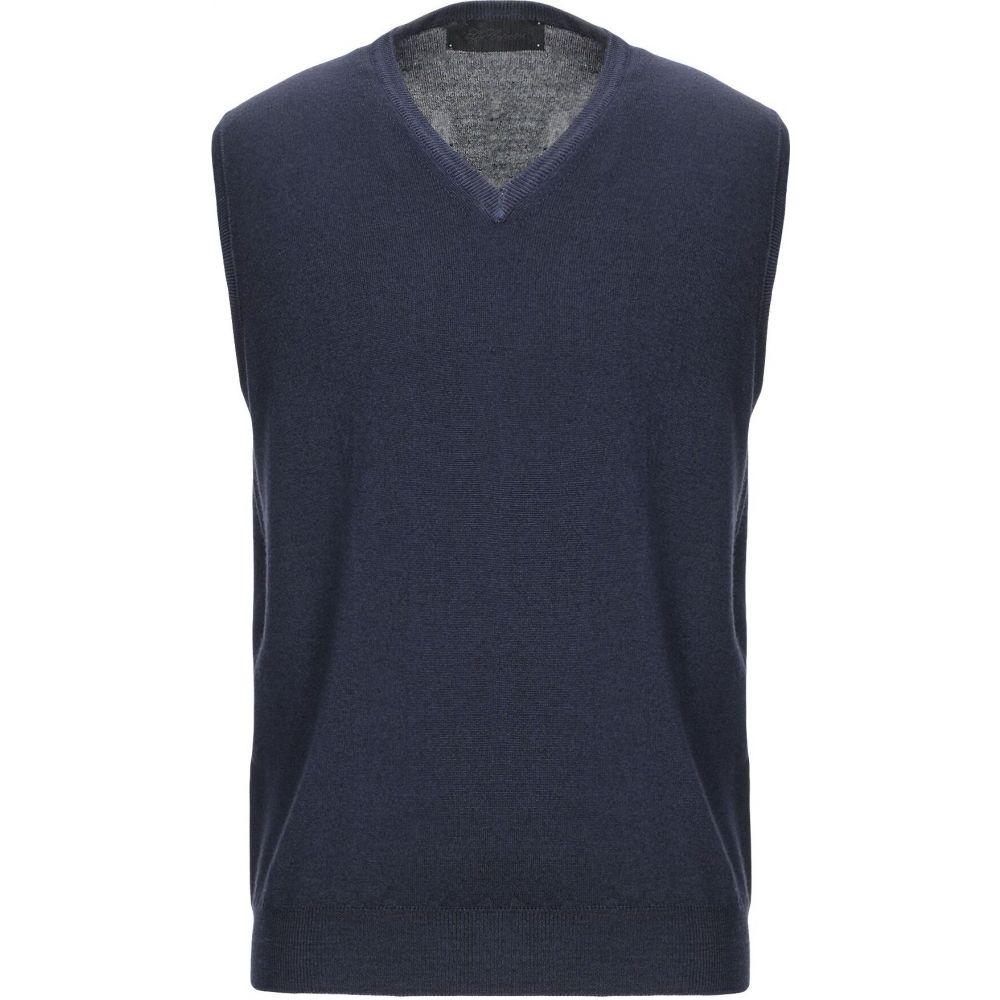 レ コパン LES COPAINS メンズ ベスト・ジレ トップス【sleeveless sweater】Dark blue