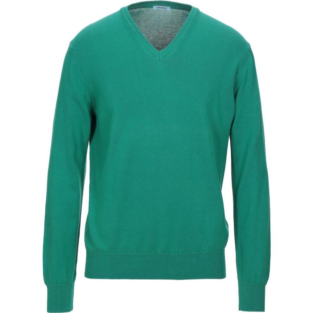 ジオ フェラーリ GIOFERRARI メンズ ベスト・ジレ トップス【sleeveless sweater】Green
