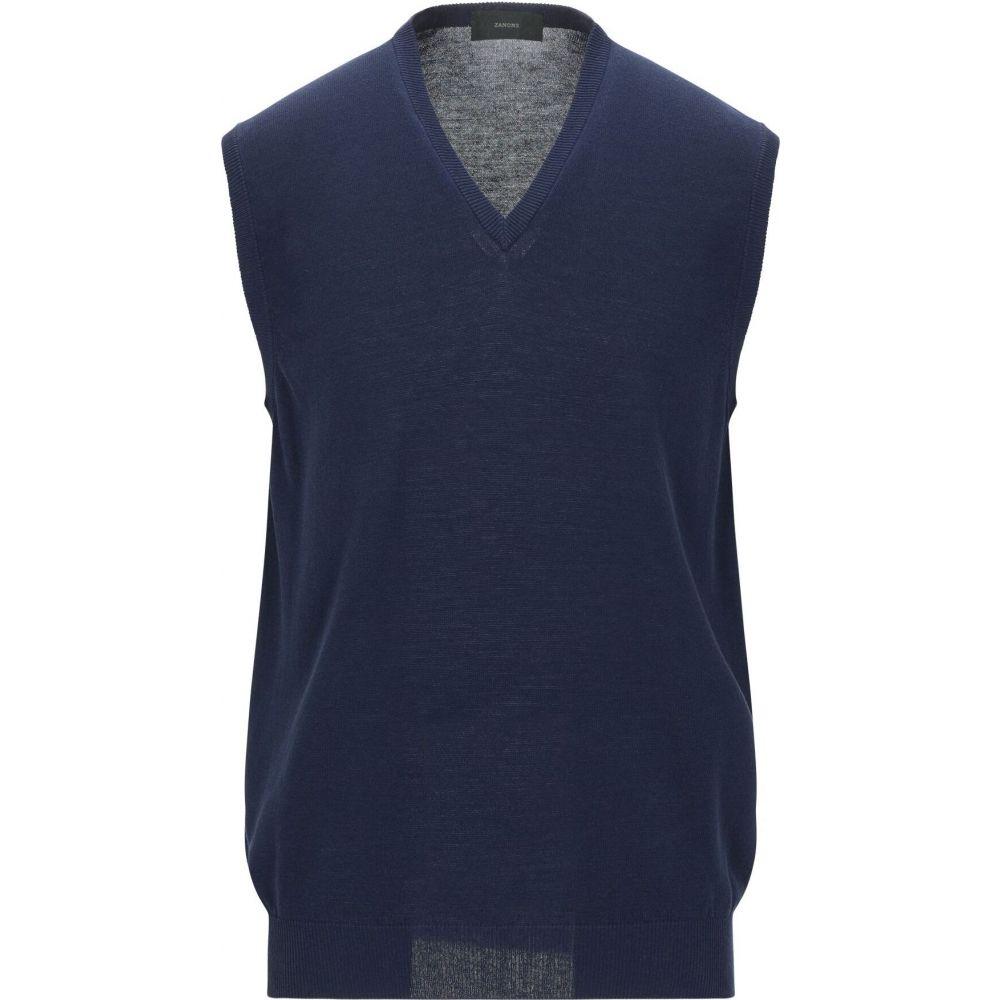 ザノーネ ZANONE メンズ ベスト・ジレ トップス【sleeveless sweater】Slate blue