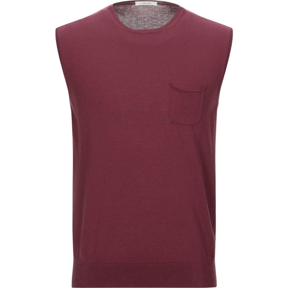 オビオスベーシック OBVIOUS BASIC メンズ ベスト・ジレ トップス【sleeveless sweater】Maroon