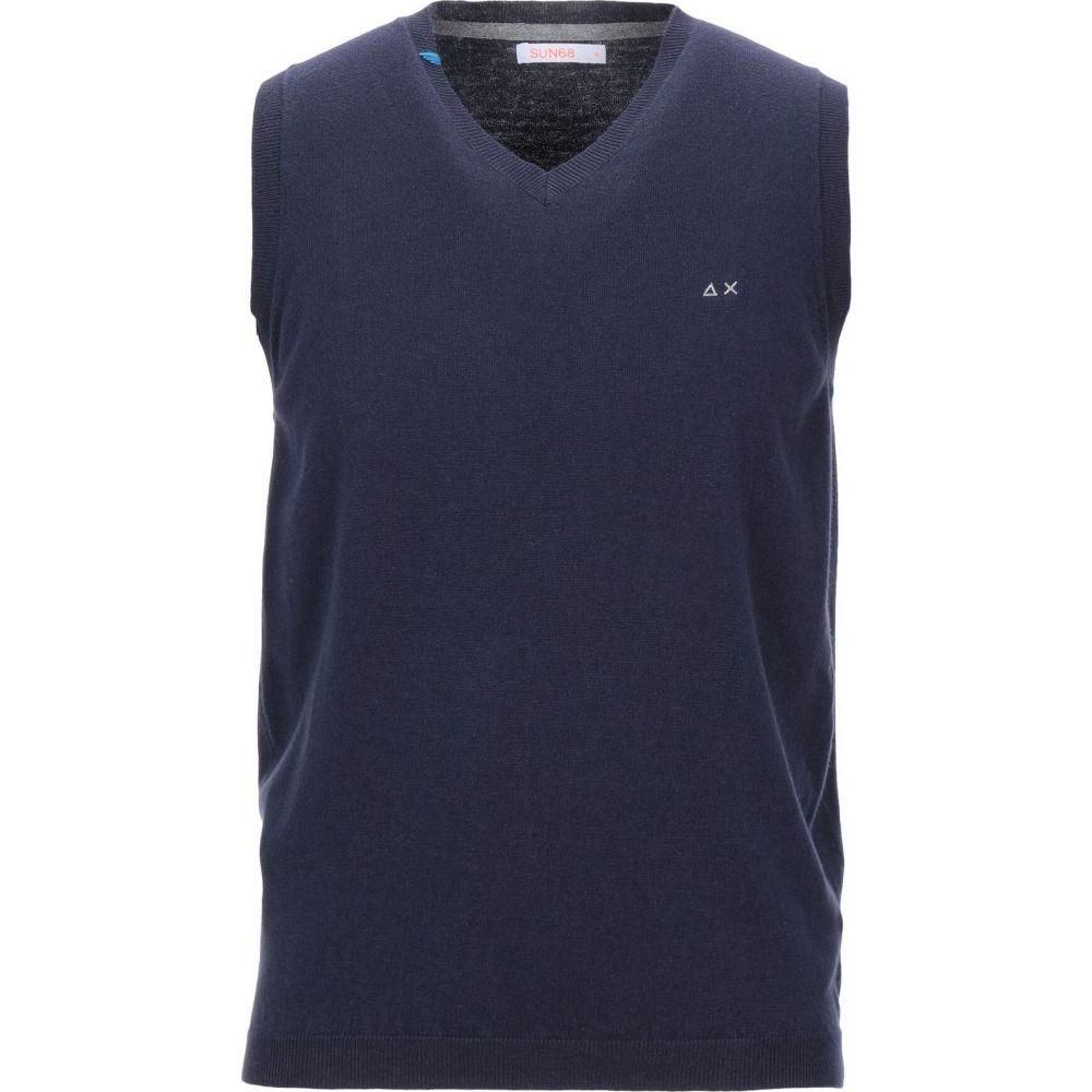 サン シックスティーエイト SUN 68 メンズ ベスト・ジレ トップス【sleeveless sweater】Dark blue