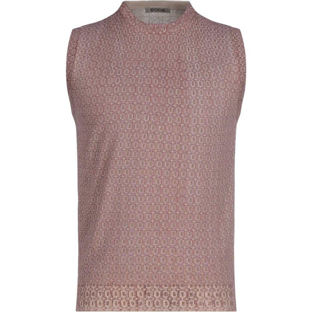 ロダ RODA メンズ ベスト・ジレ トップス【sleeveless sweater】Maroon