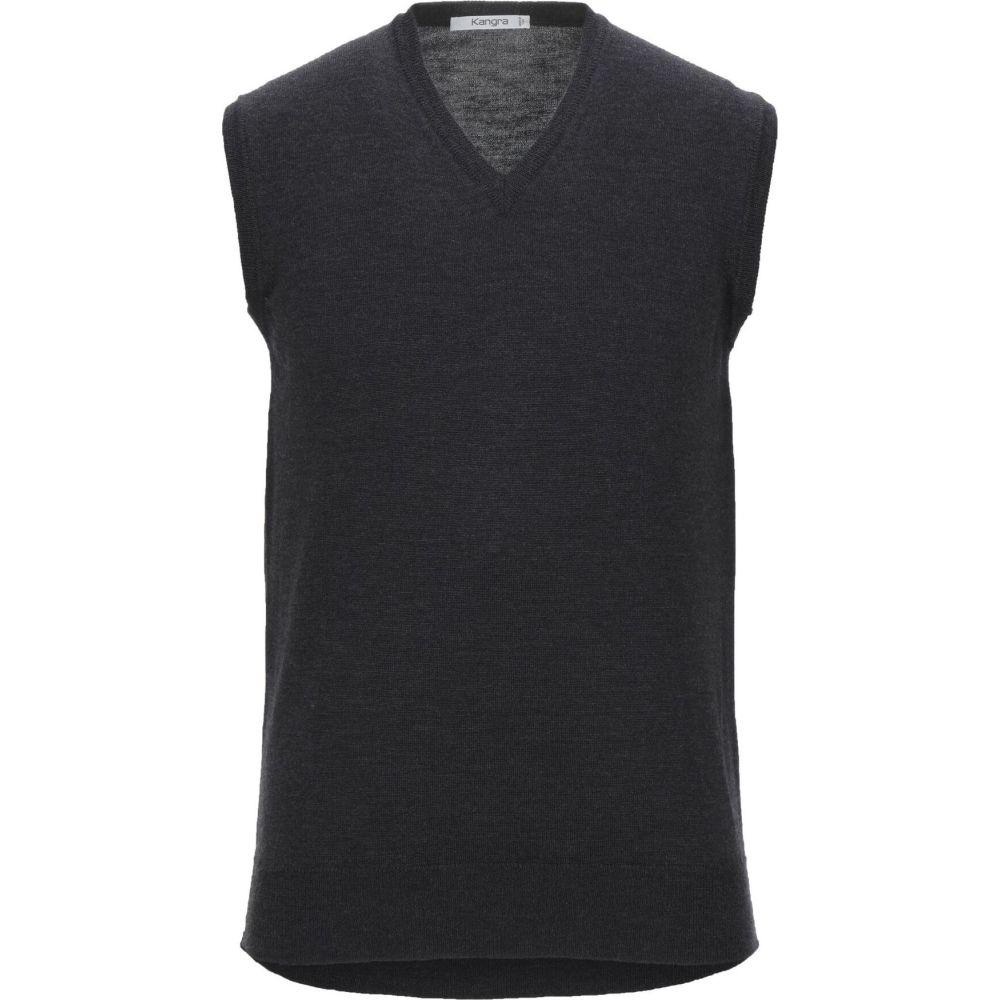 カングラ カシミア KANGRA CASHMERE メンズ ベスト・ジレ トップス【sleeveless sweater】Steel grey