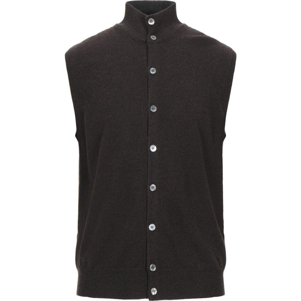 フィリッポ デ ローレンティス FILIPPO DE LAURENTIIS メンズ ベスト・ジレ トップス【sleeveless sweater】Dark brown