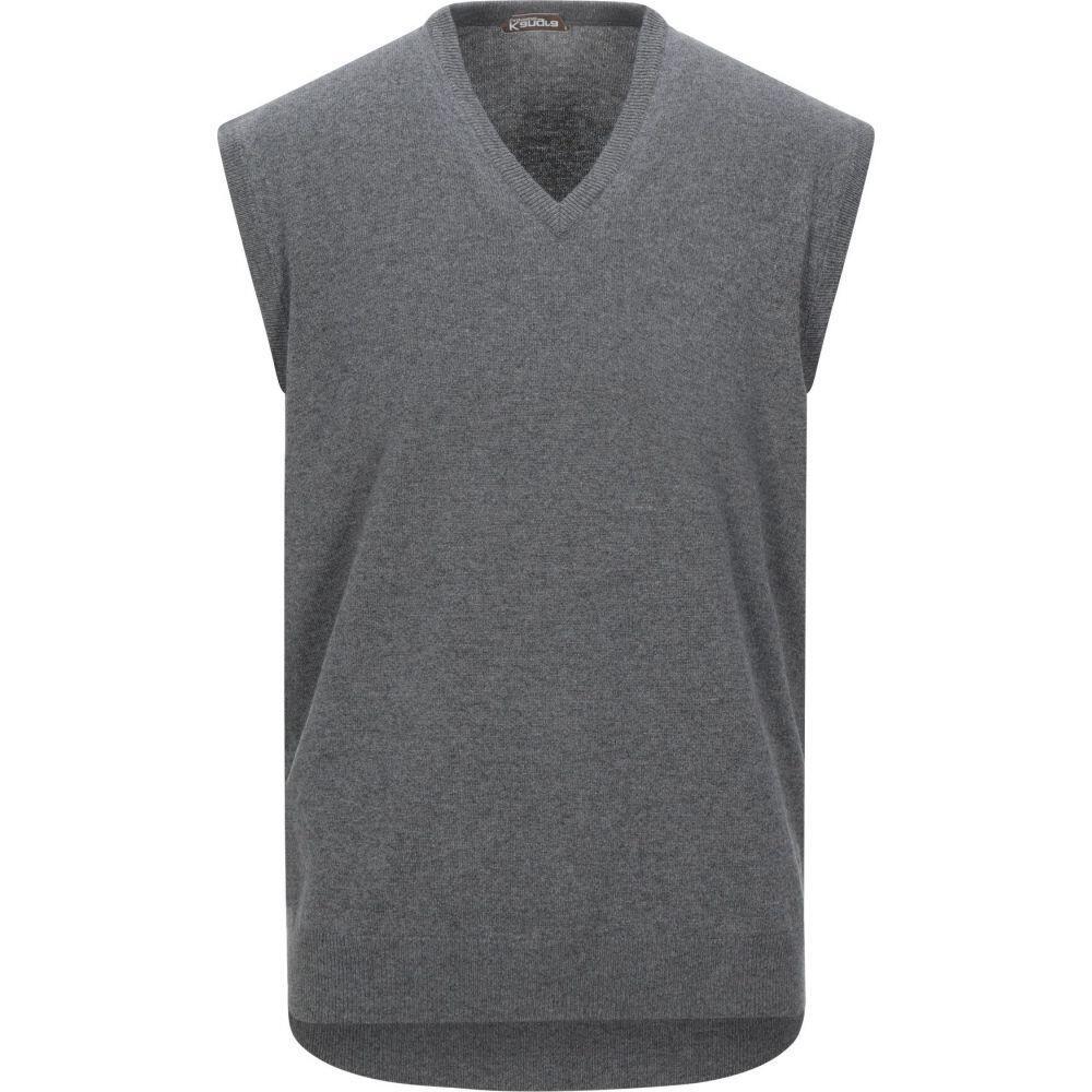 カングラ カシミア KANGRA CASHMERE メンズ ベスト・ジレ トップス【sleeveless sweater】Lead