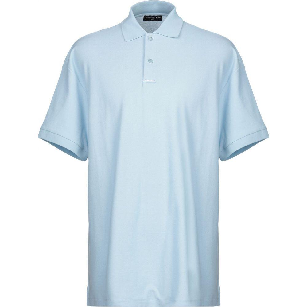 バレンシアガ BALENCIAGA メンズ ポロシャツ トップス【polo shirt】Sky blue