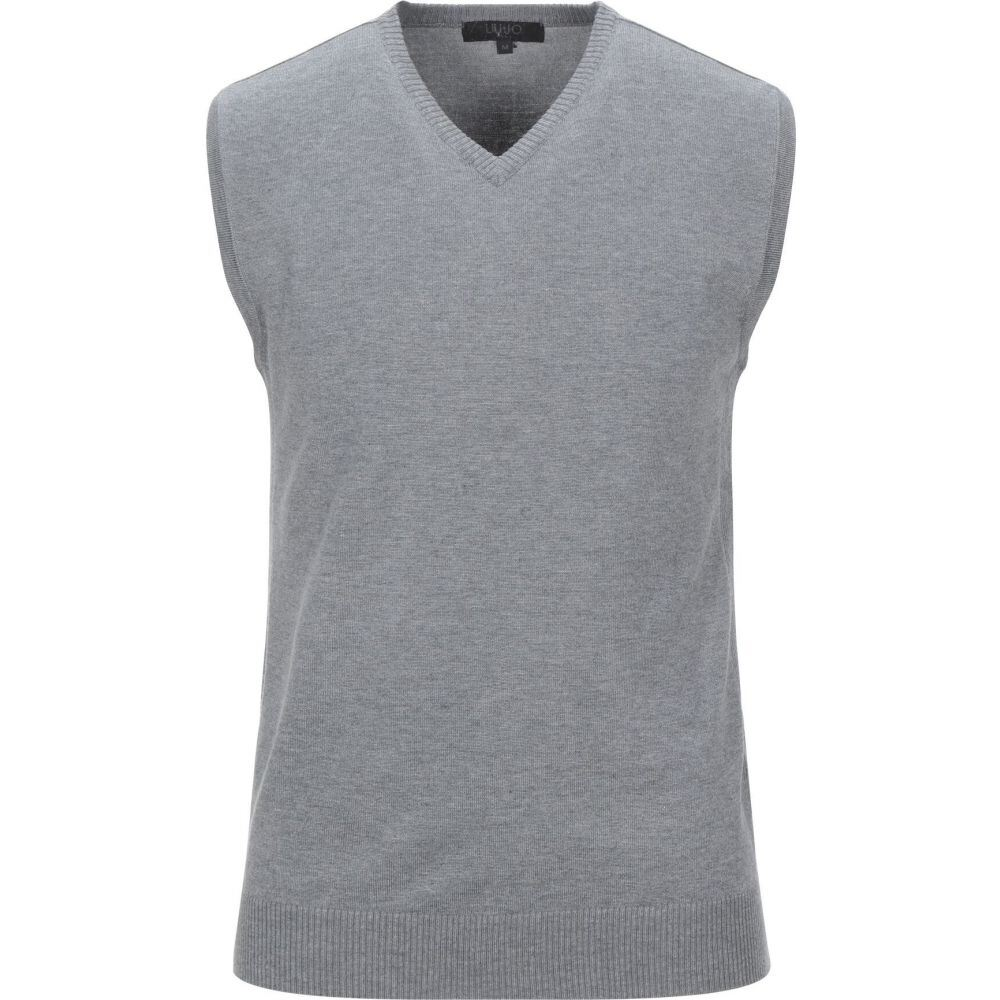 リウジョー LIU JO MAN メンズ ベスト・ジレ トップス【sleeveless sweater】Light grey