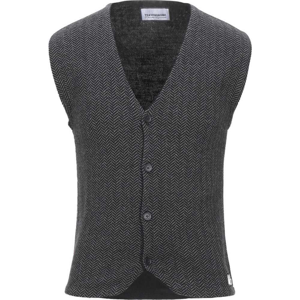 タケシ クロサワ TAKESHY KUROSAWA メンズ ベスト・ジレ トップス【sleeveless sweater】Black