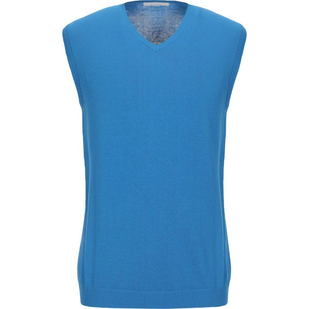 ディクタット DIKTAT メンズ ベスト・ジレ トップス【sleeveless sweater】Blue