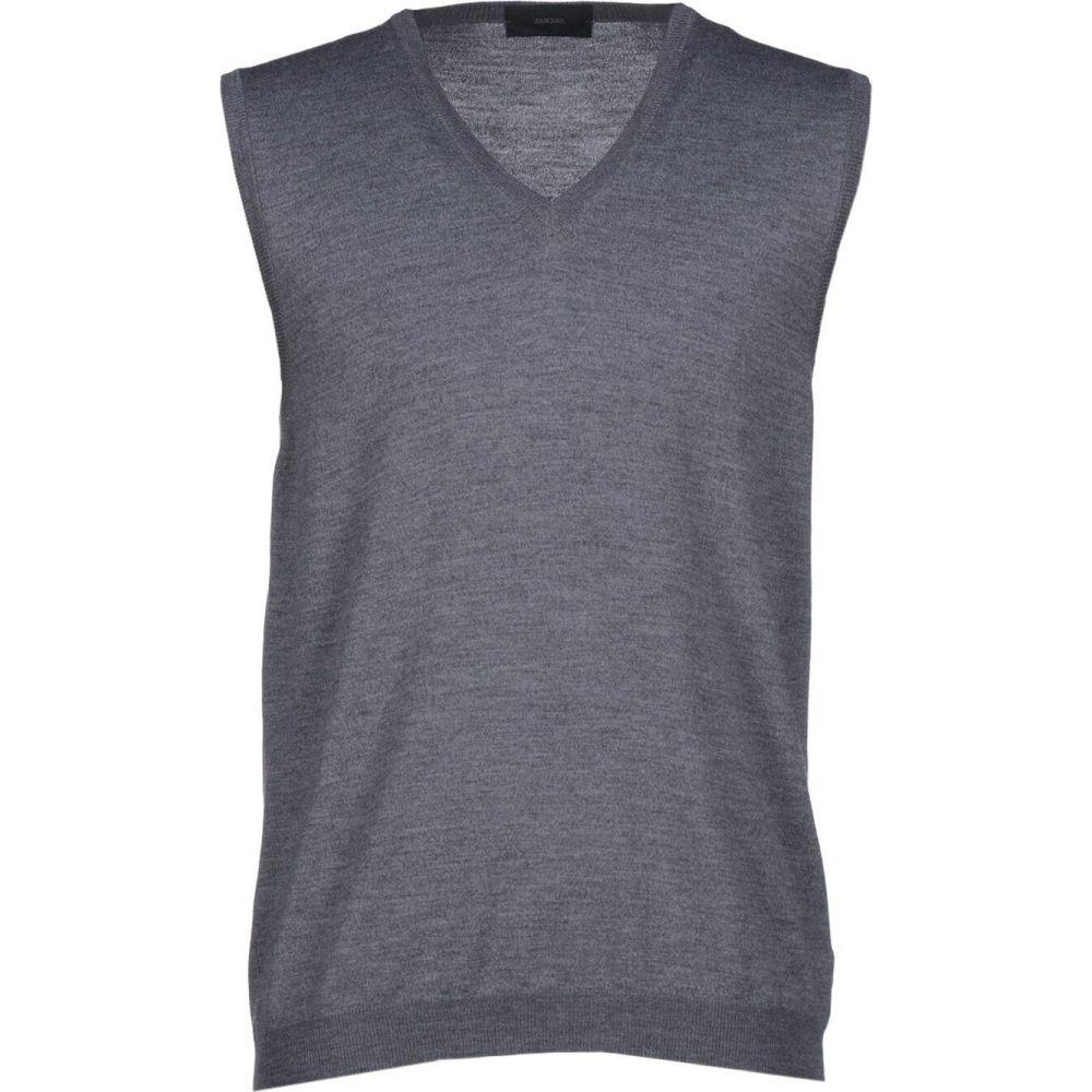 ザノーネ ZANONE メンズ ベスト・ジレ トップス【sleeveless sweater】Grey