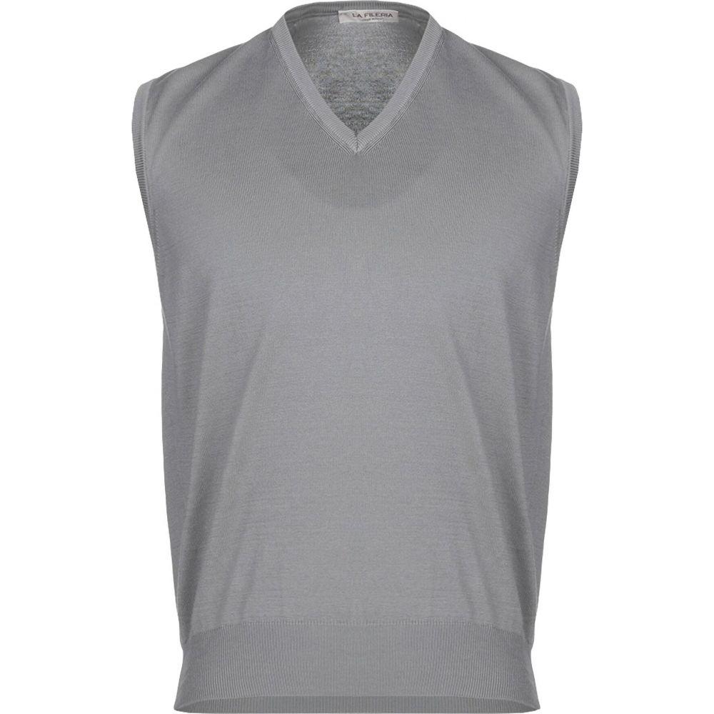 ラ フィレリア LA FILERIA メンズ ベスト・ジレ トップス【sleeveless sweater】Grey