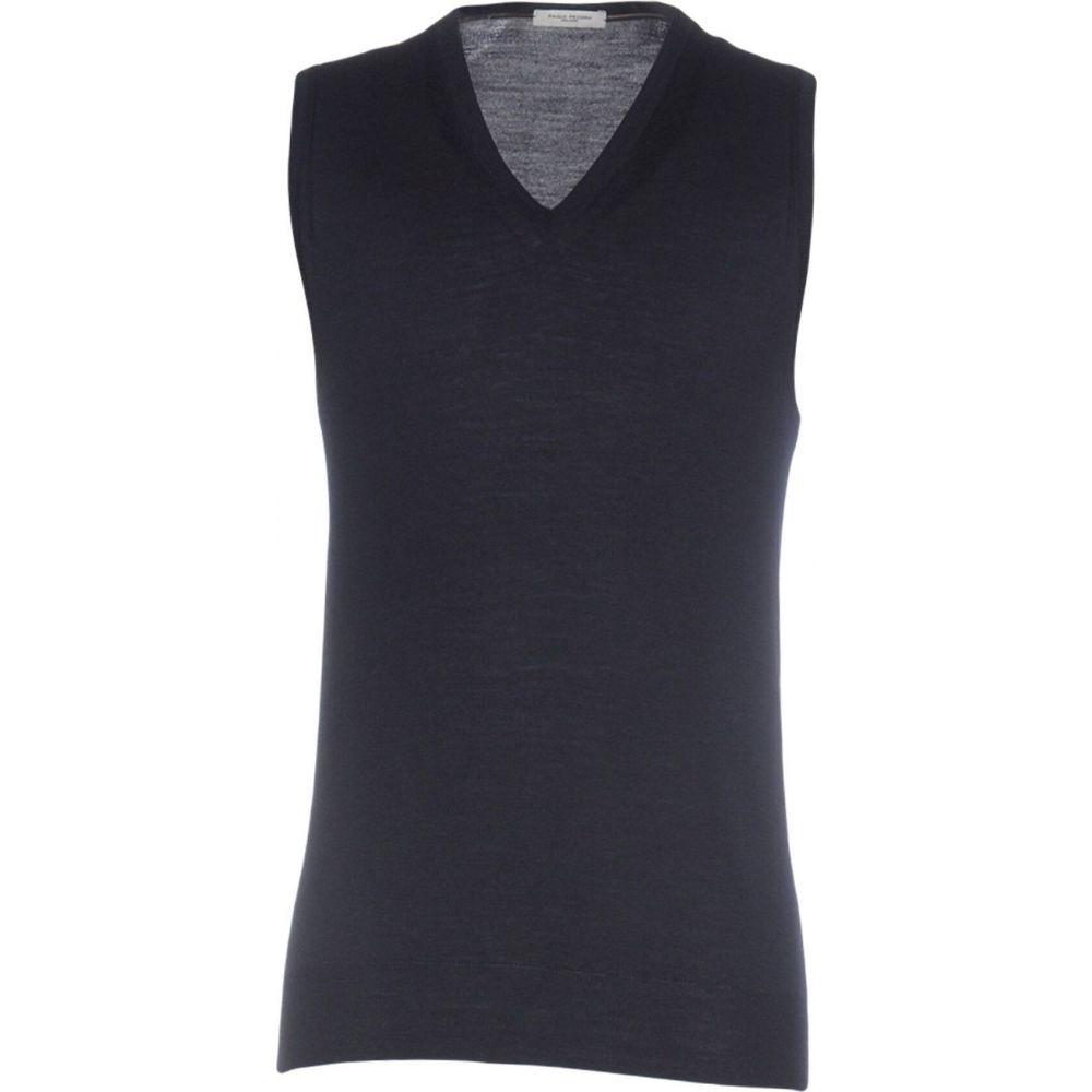 パオロ ペコラ PAOLO PECORA メンズ ベスト・ジレ トップス【sleeveless sweater】Dark blue