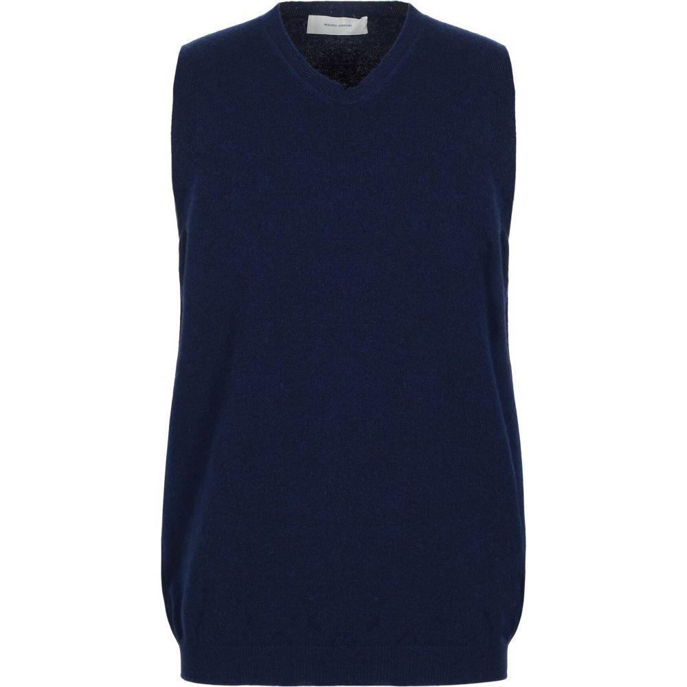 マウロ グリフォーニ MAURO GRIFONI メンズ ベスト・ジレ トップス【sleeveless sweater】Dark blue
