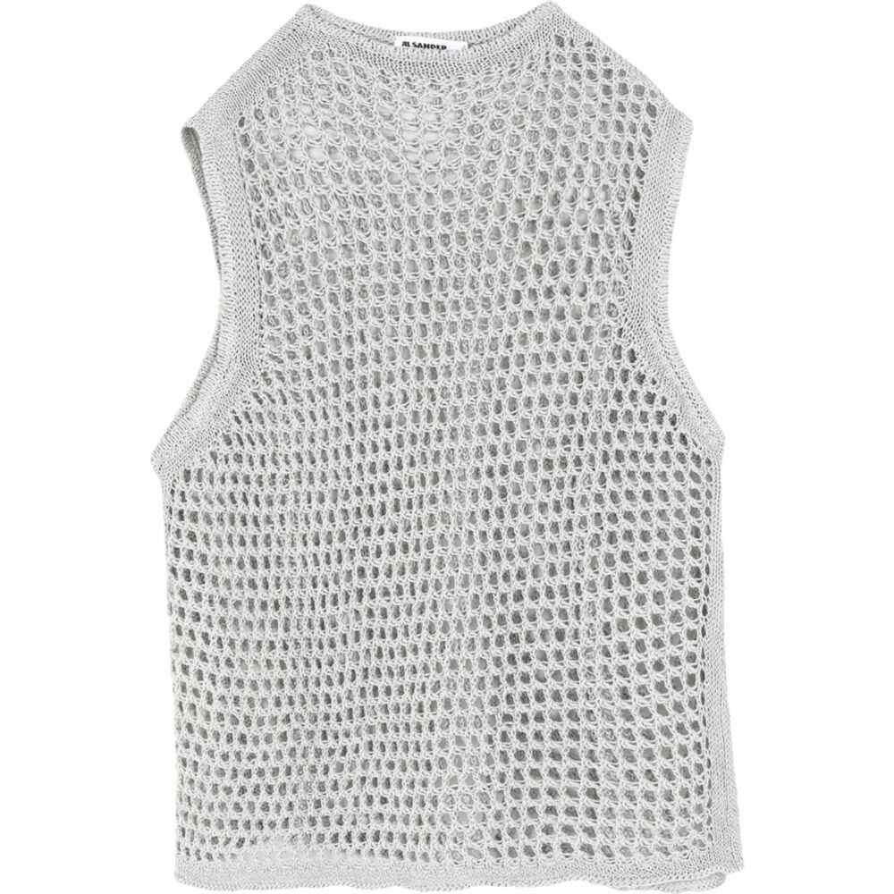ジル サンダー JIL SANDER メンズ ベスト・ジレ トップス【sleeveless sweater】Light grey