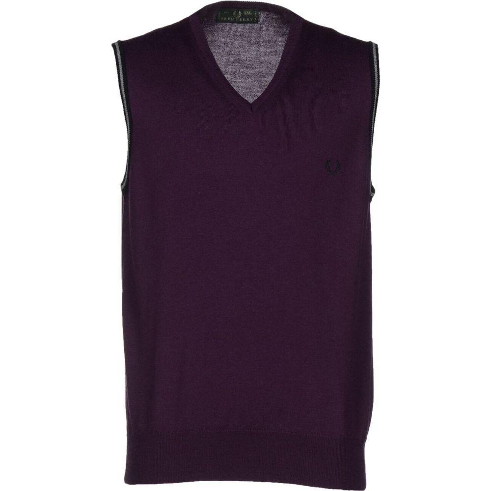 フレッドペリー FRED PERRY メンズ ベスト・ジレ トップス【sleeveless sweater】Dark purple