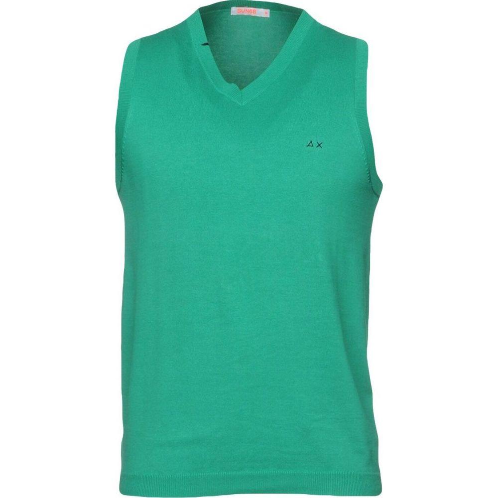 サン シックスティーエイト SUN 68 メンズ ベスト・ジレ トップス【sleeveless sweater】Green