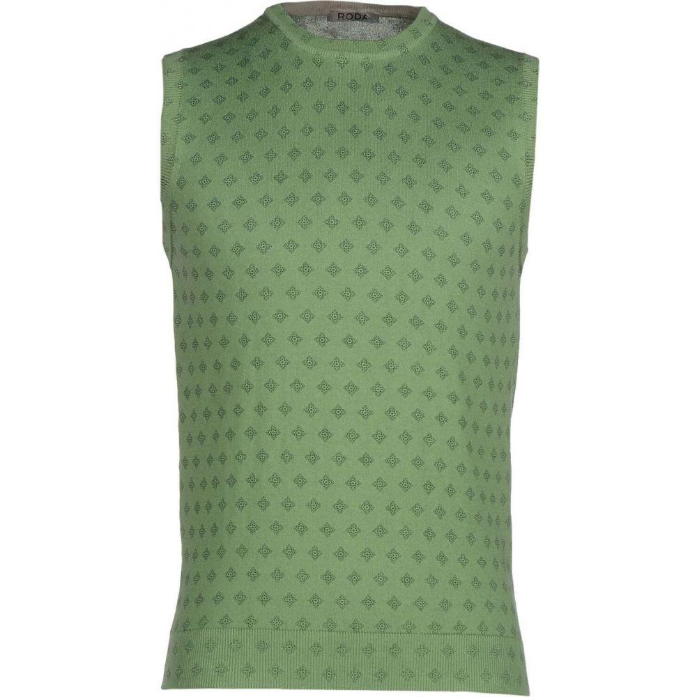 ロダ RODA メンズ ベスト・ジレ トップス【sleeveless sweater】Military green