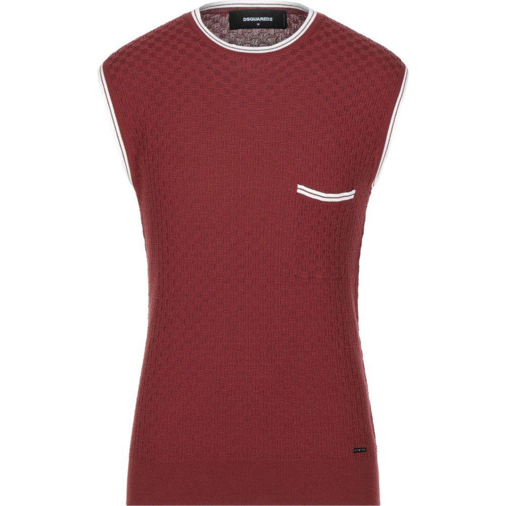 ディースクエアード DSQUARED2 メンズ ベスト・ジレ トップス【sleeveless sweater】Brick red