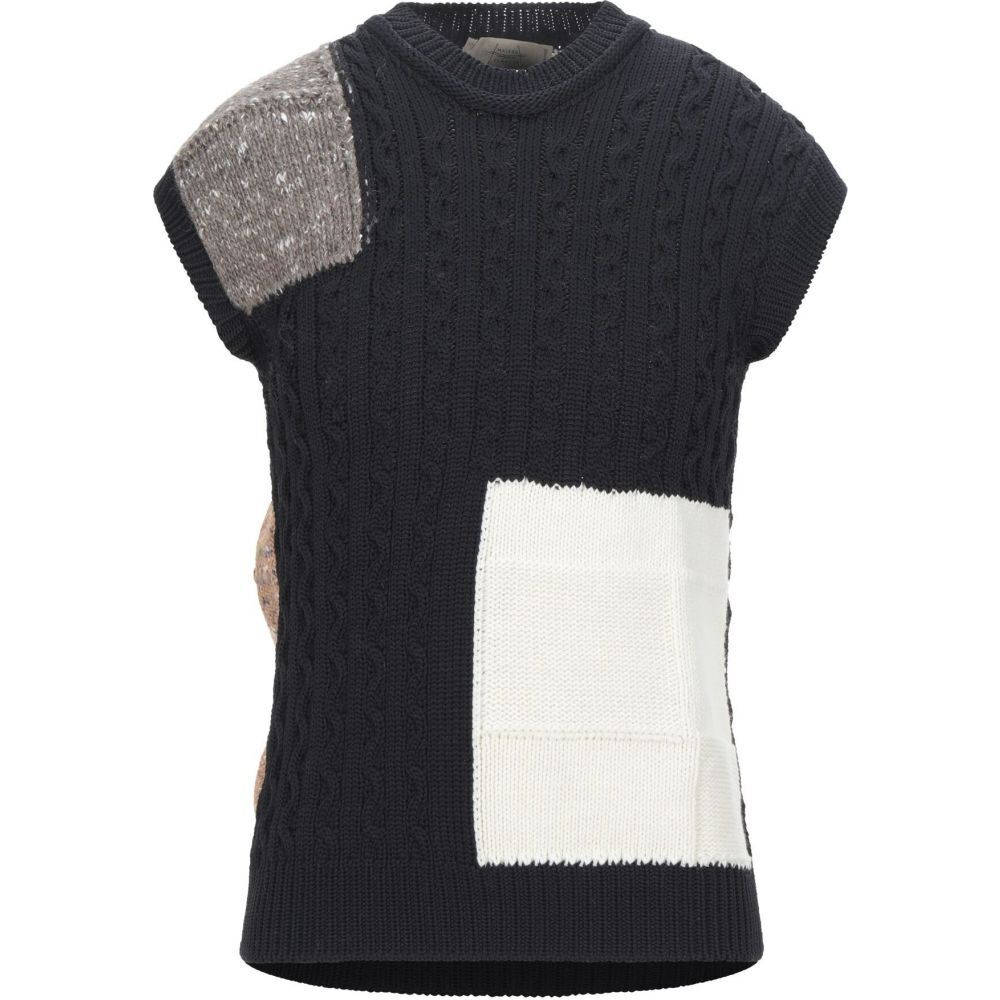 メゾンフラネウール MAISON FLANEUR メンズ ベスト・ジレ トップス【sleeveless sweater】Black