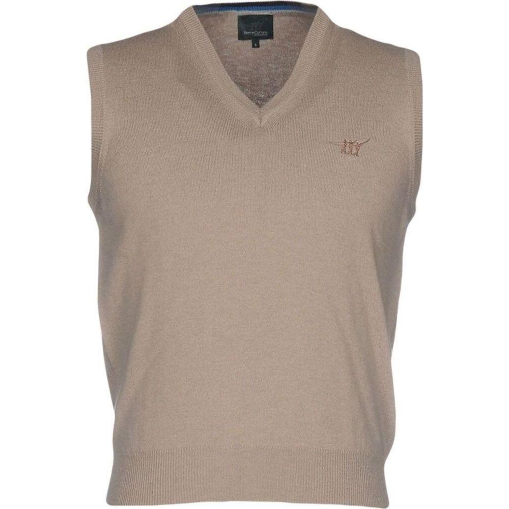 ヘンリーコットンズ HENRY COTTON'S メンズ ベスト・ジレ トップス【sleeveless sweater】Khaki
