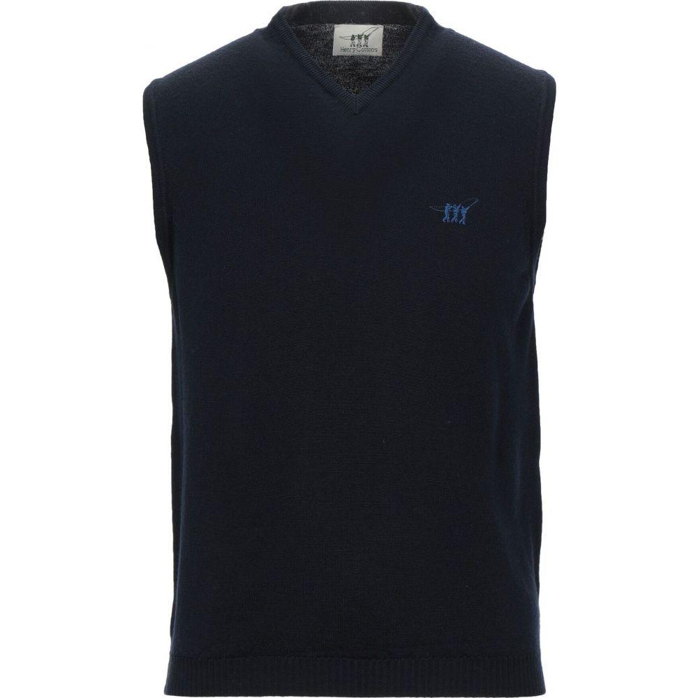ヘンリーコットンズ HENRY COTTON'S メンズ ベスト・ジレ トップス【sleeveless sweater】Dark blue