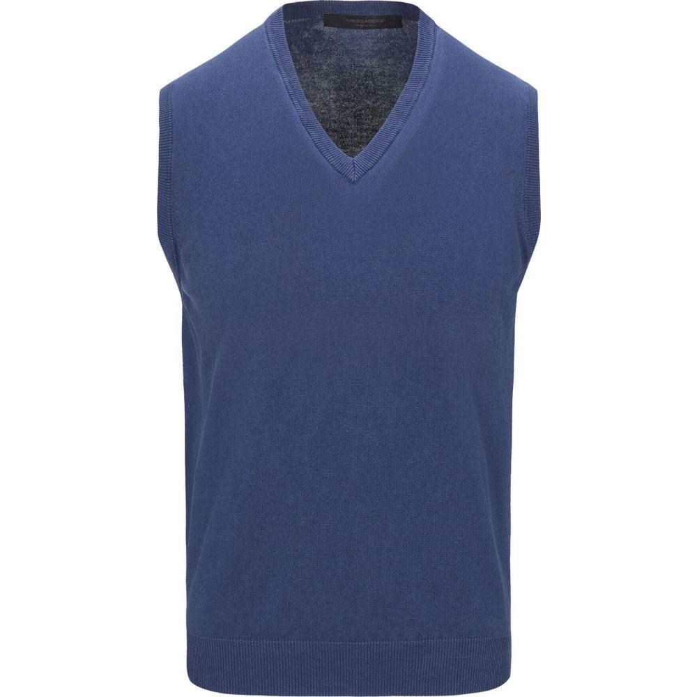メッサジェリエ MESSAGERIE メンズ ベスト・ジレ トップス【sleeveless sweater】Blue