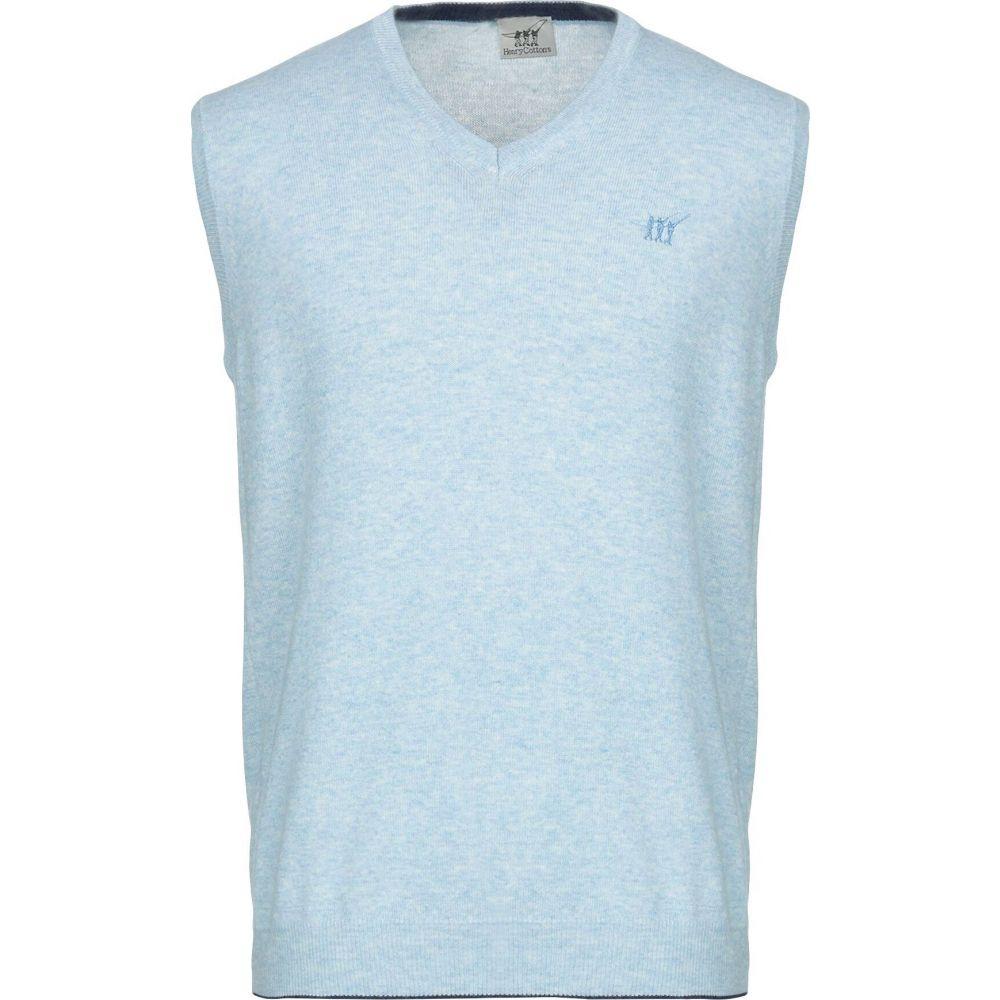 ヘンリーコットンズ HENRY COTTON'S メンズ ベスト・ジレ トップス【sleeveless sweater】Sky blue