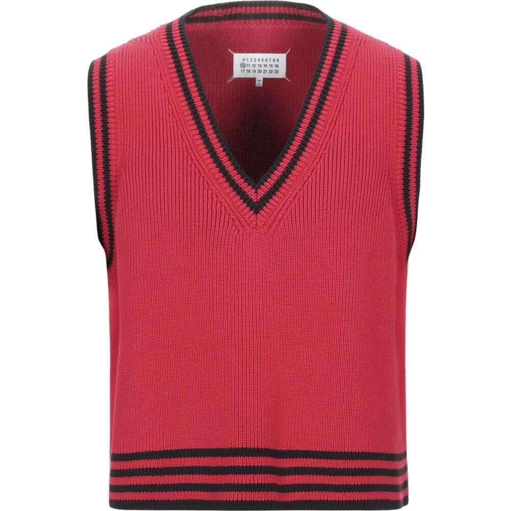 メゾン マルジェラ MAISON MARGIELA メンズ ベスト・ジレ トップス【sleeveless sweater】Red
