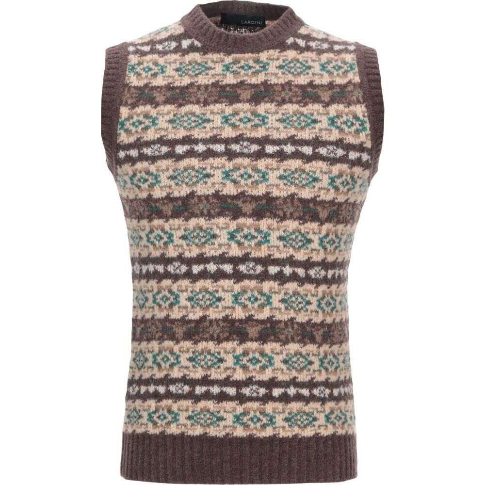 ラルディーニ LARDINI メンズ ベスト・ジレ トップス【sleeveless sweater】Brown