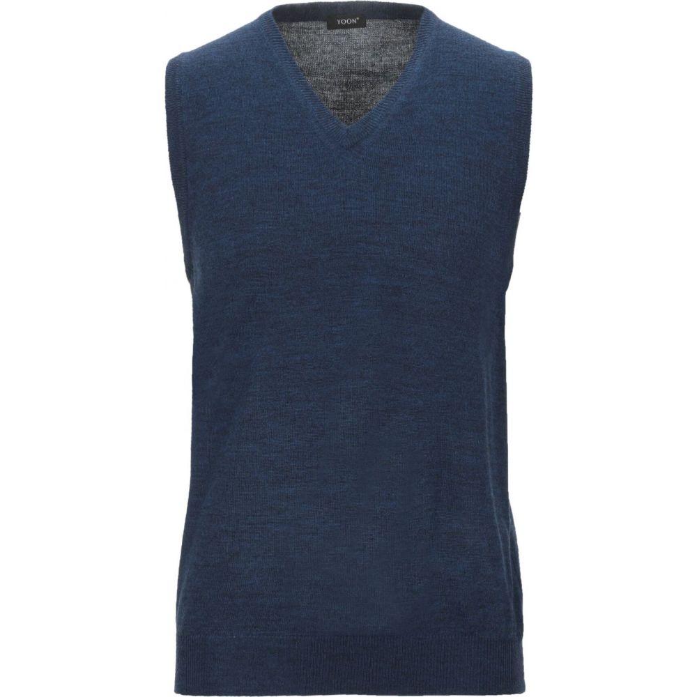 ヨーン YOON メンズ ベスト・ジレ トップス【sleeveless sweater】Dark blue