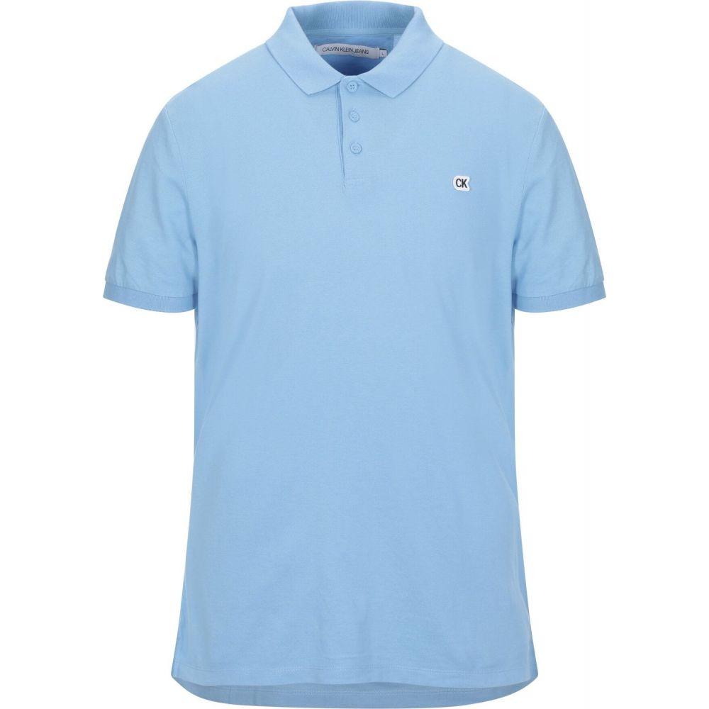 カルバンクライン CALVIN KLEIN JEANS メンズ ポロシャツ トップス【polo shirt】Azure