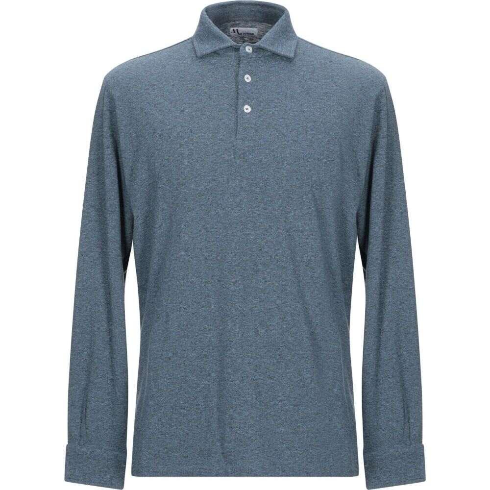 ドッピア アー DOPPIAA メンズ ポロシャツ トップス【polo shirt】Slate blue